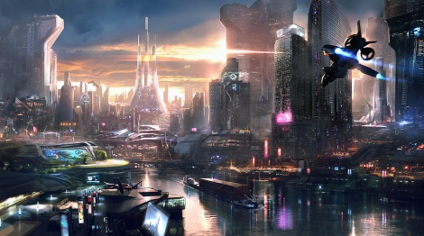 A futuristic view of (Neo) Paris... missing the Eiffel Tower 2084.
