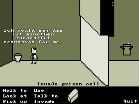 Hitler successfully manages to invade his own prison cell in an in-game adventure.